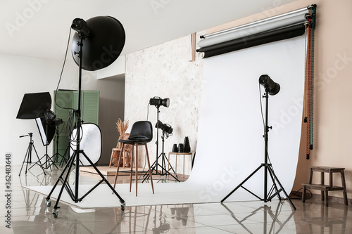 Interior of photo studio with modern equipment Tapéta, Fotótapéta