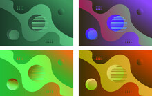Bundle Pack Abstract Background With Beauty Colourfull.