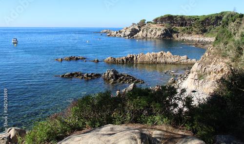 Obraz na plátně Seascape of Palamós, Costa Brava, Girona, Spain