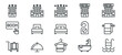 hotel icons . line vector illustration