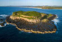 Small Grass Covered Island Wit...