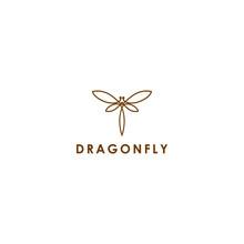 Line Art For Dragonfly Logo Ve...