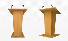Wooden Pulpit, Podium Or Tribu...