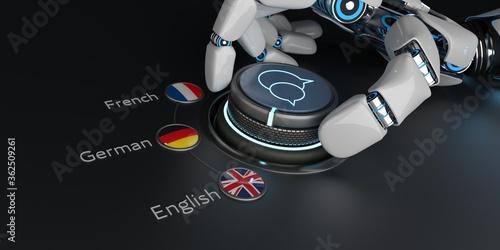 Fototapeta AI Translator English German French obraz