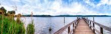 Panoramic View At The Lake Tem...