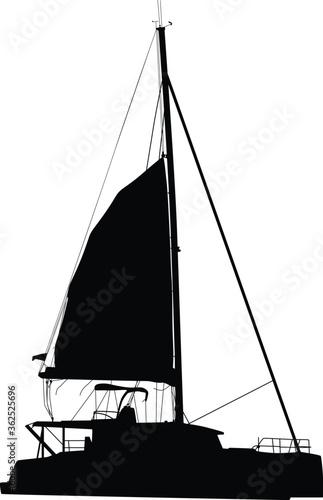 sailing boat catamaran Wallpaper Mural
