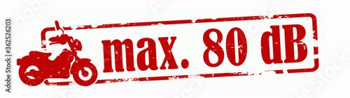 Fotografia Roter zerkratzter Stempel Banner, mit den Worten: max