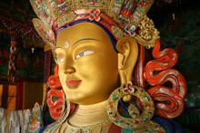 Giant Statue Of Maitreya Buddh...
