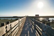 Wooden Bridge And Cabin Landscape, Don Edwards San Francisco Bay National Wildlife Refuge, Fremont