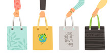 Zero Waste Bags. Arms Holding ...