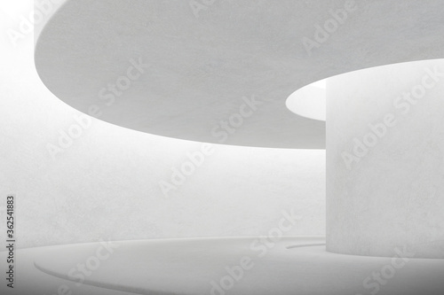 Fototapety, obrazy: Abstract architecture space, Interior with concrete wall. 3d render.