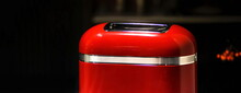 Red Stylish Retro Toaster On D...