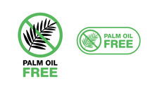 Palm Oil Free Sign - Marking F...