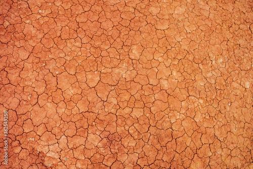 Obraz na plátne Nature background of cracked dry lands