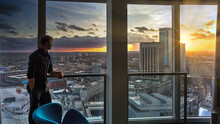 Birmingham Rotunda Interior Sunset Man