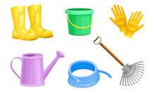 Garden Tools With Watering Can...