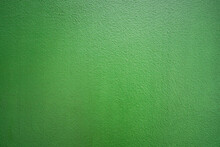 Green Color Cement Concrete Wall For Texture Background.