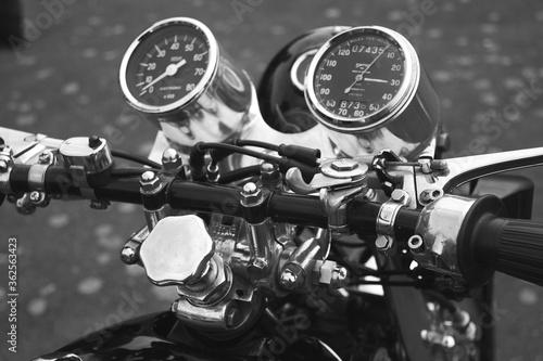 Obraz na płótnie Close-up Of Vintage Motorcycle