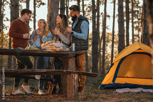 Obraz Spending a day with the friends outdoors - fototapety do salonu
