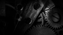 Close-up Of Machine Cogs Of A Watch