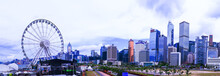 Ferris Wheel In Hong Kong City...