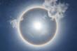 Leinwandbild Motiv Sun Halo Above The Sky
