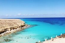 This Photo Taken At Marsa Matrouh  Egypt  By Canon This Place It's Called Agiba Multi Colour Of Blue