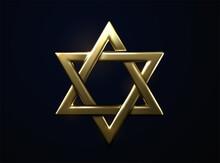 Star Of David Golden Sign.