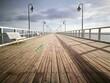 Morning Walk On The Pier