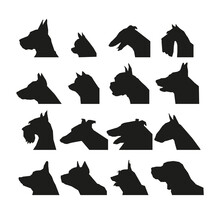 Set Of Dog Breeds. Simple Vect...
