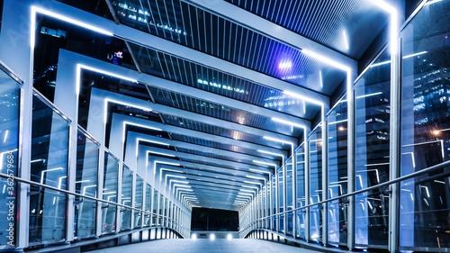 Vászonkép Modern Bridge At Night
