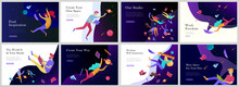 Landing Page Templates Set. In...