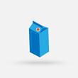 Milk package. Simple modern icon design illustration.