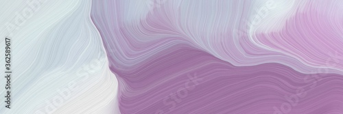 unobtrusive banner with elegant modern soft curvy waves background illustration with light gray, antique fuchsia and pastel purple color #362589617