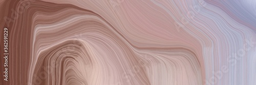 inconspicuous banner with elegant curvy swirl waves background design with rosy brown, old mauve and silver color #362591229