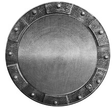 Round Medieval Shield Isolated...