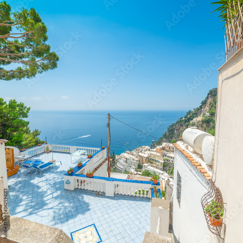 Terrace with sea view in world famous Positano