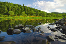 Riverscape On A Beautiful Summ...