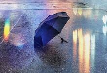 Rainy Evening Blurred Light We...