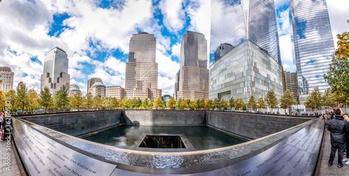Foto Fish-eye View Of National September 11 Memorial & Museum In Manhattan