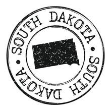 South Dakota Silhouette Postal...