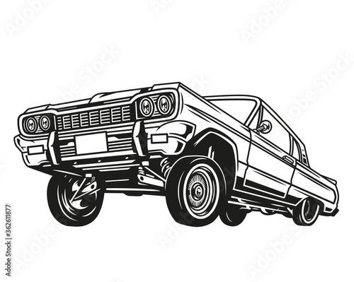 Papel de parede Vintage concept of low rider retro car