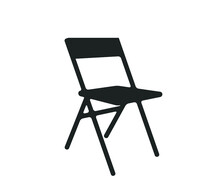 Chair Icon. Chair Vector.  Folding Chair Vector