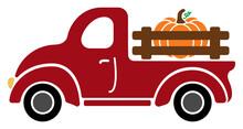 Fall Pumpkin Farm Truck Vector