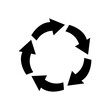 arrows in circle shape icon, silhouette style
