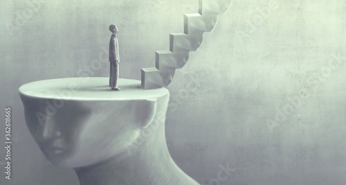 Surreal art of dream success and hope concept  , imagination artwork,  ambition Fototapet