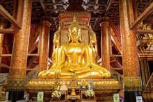 Buddha Statues In Thai Lue Art...