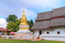 Golden Pagoda And Chapel At Wa...