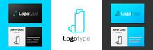 Grey Line Inhaler Icon Isolate...