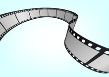 Cinema / Movie And Photography 35mm Film Strip Template.  Vector 3D Elements.